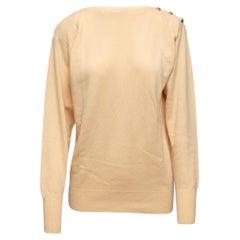 Chanel Cream Cashmere Sweater