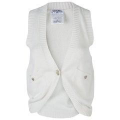 Chanel Cream Cashmere Vest S