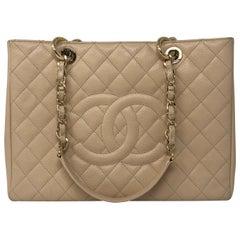 Chanel Cream Grand Shopper Tote