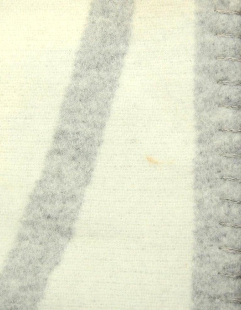 Women's or Men's Chanel Cream/Grey Merino Wool & Cashmere CC Throw Blanket For Sale