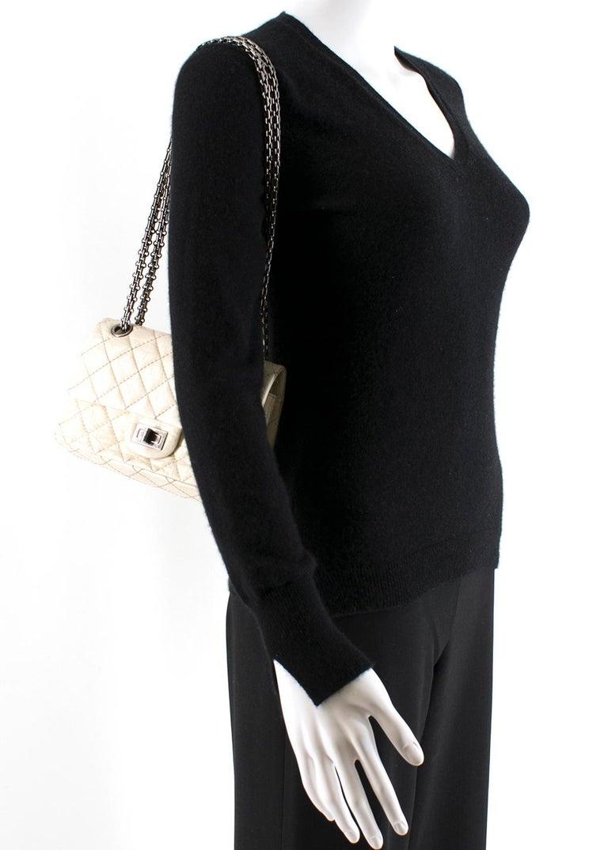 Chanel Cream Lambskin Mini Reissue 2.55 Bag For Sale 5