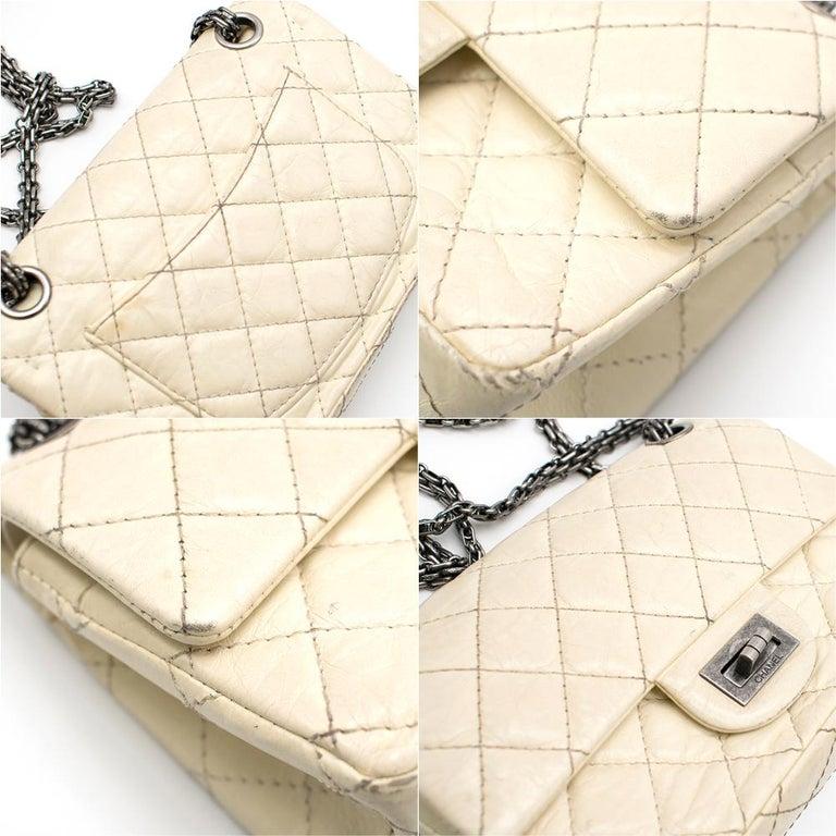 Chanel Cream Lambskin Mini Reissue 2.55 Bag For Sale 1