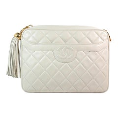Chanel Cream Quilted Leather Crossbody Bag