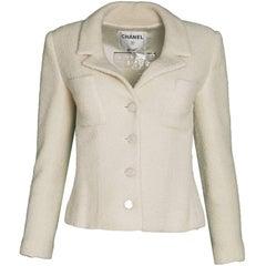 Chanel Cream Wool Jacket Sz FR34