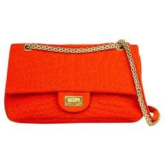 Chanel Croc Reissue 225 Double Flap Bag