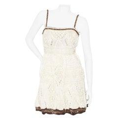 Spring 2010 Chanel Crochet Chain Trim Dress