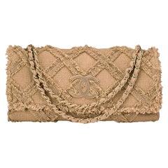Chanel Crochet Tweed Extra Large Flap Bag