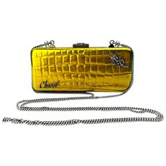 CHANEL Crocodile Effect Minaudiere