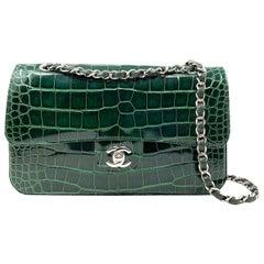 CHANEL Crocodile Green Classique bag , 2011