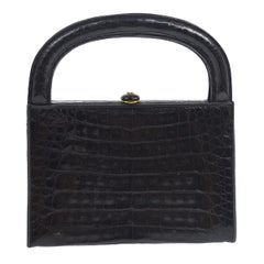 Chanel Crocodile Leather Evening Small Party Top Handle Satchel Kelly Style Bag