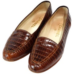 Chanel Crocodile Loafer