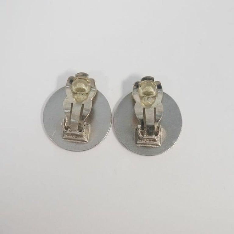 CHANEL CROISIERE coco mark earrings 2000 stainless steel Womens earrings silver For Sale 1
