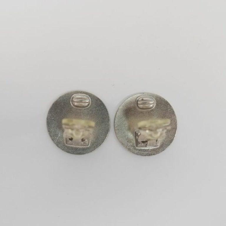 CHANEL CROISIERE coco mark earrings 2000 stainless steel Womens earrings silver For Sale 2