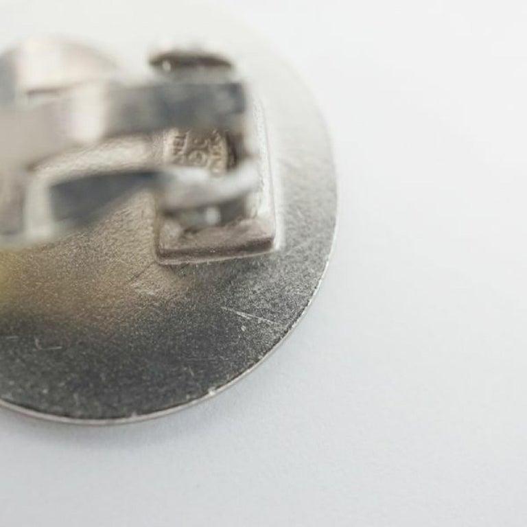 CHANEL CROISIERE coco mark earrings 2000 stainless steel Womens earrings silver For Sale 5
