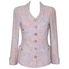 Chanel Cruise 1994 Pink Cotton Tweed Jacket