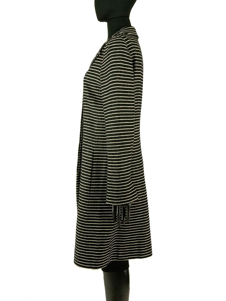 Chanel Cruise 2001 Striped Coat In Good Condition For Sale In London, GB
