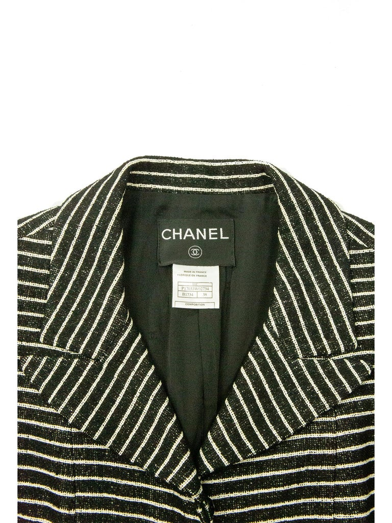 Chanel Cruise 2001 Striped Coat For Sale 2