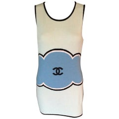 Chanel Cruise 2009 Runway Logo Cashmere Mini Dress