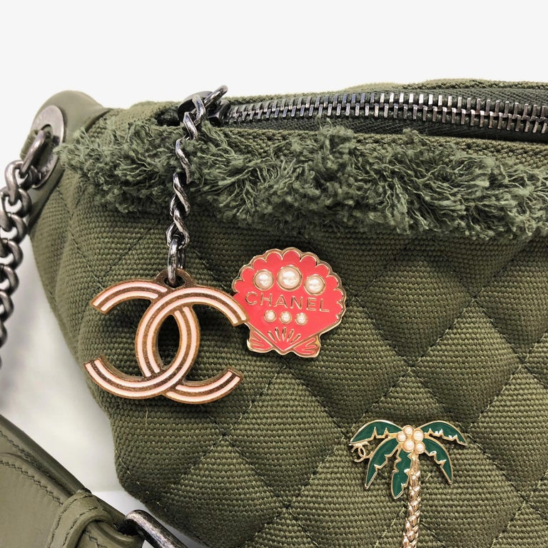 CHANEL canvas lambskin quilted Coco Cuba Charms fanny pack from the Cruise  2017 Paris-Cuba 7413564963960