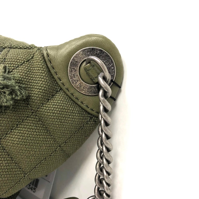 Gray CHANEL Cruise 2017 Quilted Coco Cuba Charms Khaki Waist Bag Fanny Pack  For Sale 7e4c9195fe76b