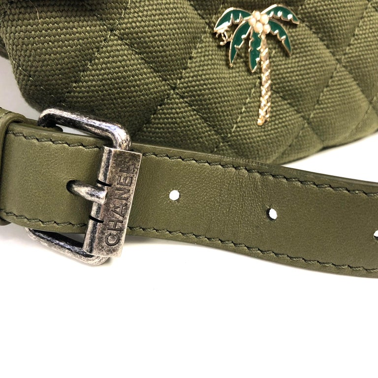 9399da98724f4f Women's or Men's CHANEL Cruise 2017 Quilted Coco Cuba Charms Khaki Waist  Bag Fanny Pack For