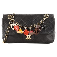Chanel Cruise Charm Flap Bag Quilted Lambskin Medium