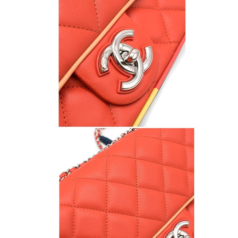 Chanel Cruise Collection Multi-Colour Flap Bag For Sale 1