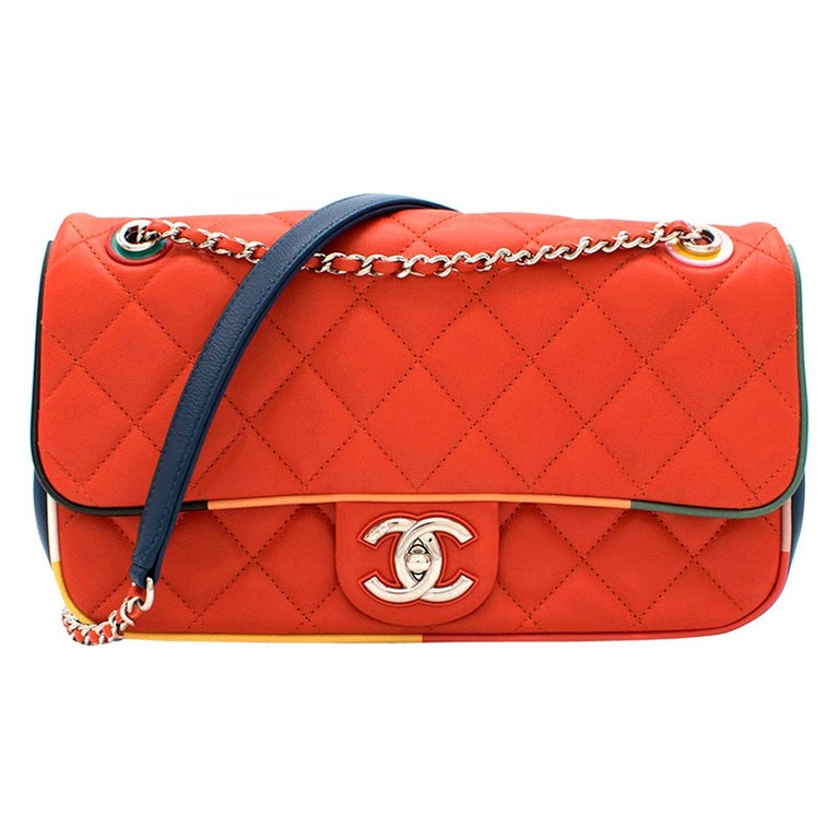 Chanel Cruise Collection Multi-Colour Flap Bag For Sale