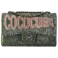 Chanel Cruise Lambskin-Trimmed Sequin Classic Flap Bag
