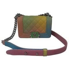 Chanel Cruise Rainbow Pastel Mini Boy Bag