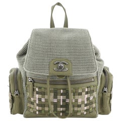 Chanel Cuba Pocket Backpack Tweed with Mixed Media and Caviar Medium