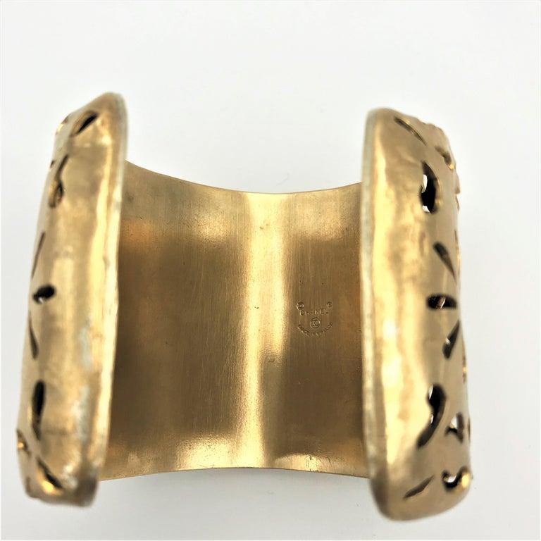 Artisan Chanel Cuff by Robert Goossens Paris 70/80s gold plated