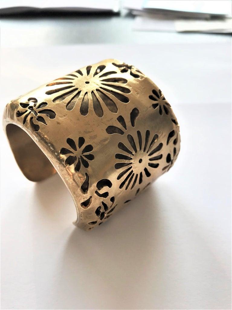Women's Chanel Cuff by Robert Goossens Paris 70/80s gold plated