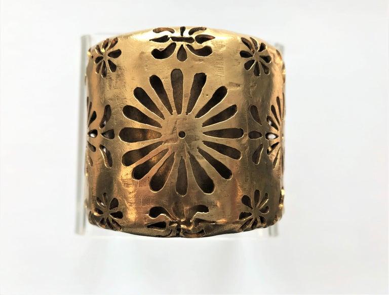 Chanel Cuff by Robert Goossens Paris 70/80s gold plated  2