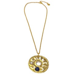 Chanel Cut Out Disk Pendant Necklace, 2019 Cruise Collection