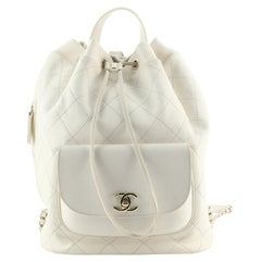 Chanel Daily Round Backpack Quilted Calfskin with Caviar