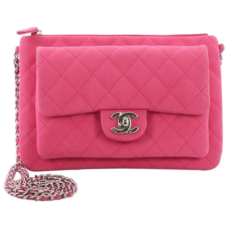 Chanel Daily Zippy Crossbody Bag Quilted Caviar Medium For Sale at ... 1291a395ce