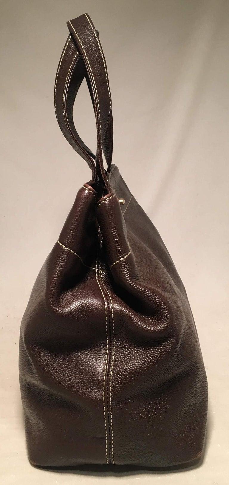 Chanel Dark Brown Caviar Top Handle Shoulder Bag Tote In Good Condition For Sale In Philadelphia, PA