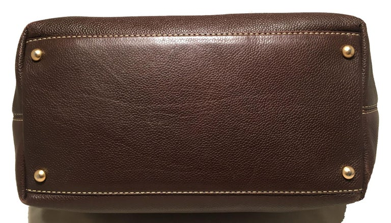 Chanel Dark Brown Caviar Top Handle Shoulder Bag Tote For Sale 1