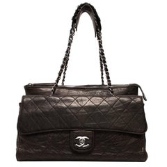 Chanel Dark Brown Quilted Leather Gladstone Bag