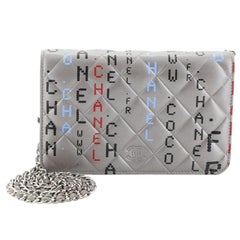 Chanel Data Center Wallet on Chain Quilted Printed Lambskin