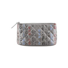 Chanel Data Center Zip Pouch Quilted Printed Lambskin Small