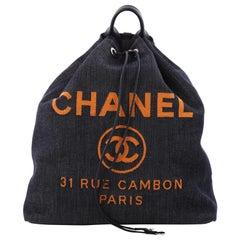 Chanel Deauville Backpack Denim Large