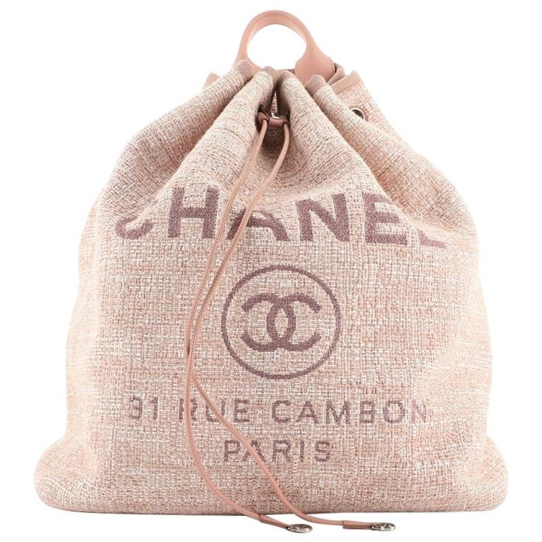 Chanel Deauville Backpack Raffia Large For Sale
