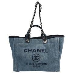 CHANEL Deauville Blue Denim Bag