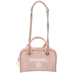 Chanel Deauville Bowling Bag Canvas Small