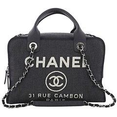 Chanel Deauville Bowling Bag Denim Large