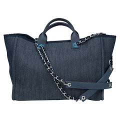 Chanel Deauville Large Denim Tote