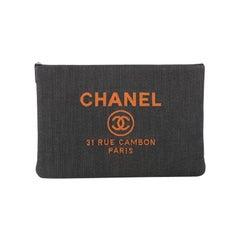 Chanel Deauville Pouch Denim Large