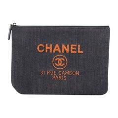 Chanel Deauville Pouch Denim Medium